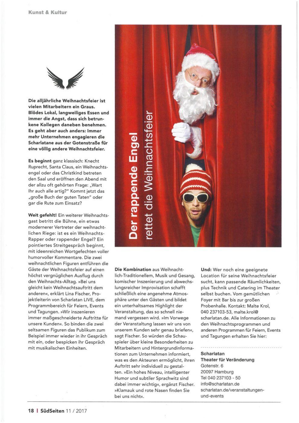Artikel Weihnachtsfeier.Neuer Artikel Der Rappende Engel Rettet Die Weihnachtsfeier
